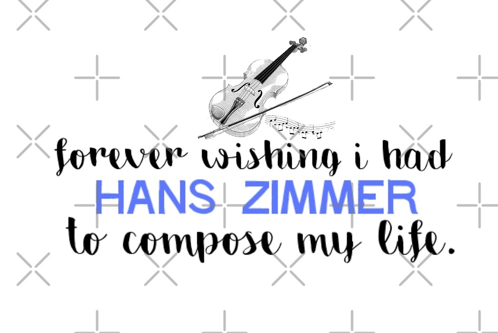 Hans Zimmer Typography Art by FoxGroves