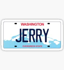 Washington License Plate - Jerry Edition Sticker
