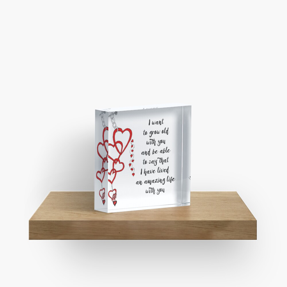 Chained Heart for Valentine's Day Acrylic Block