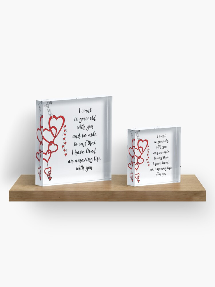 Alternate view of Chained Heart for Valentine's Day Acrylic Block