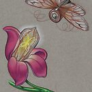 Battery Bug with Edison Bulb Orchid by justteejay