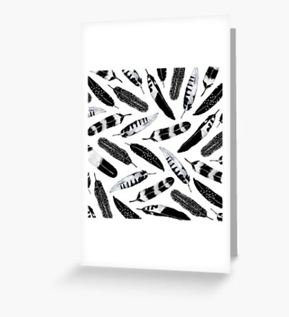 Frozen Feather Greeting Card