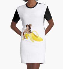 Nicolas-Käfig in einer Banane - helles Gelb T-Shirt Kleid