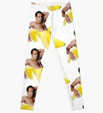 Nicolas Cage In A Banana - Bright Yellow Leggings