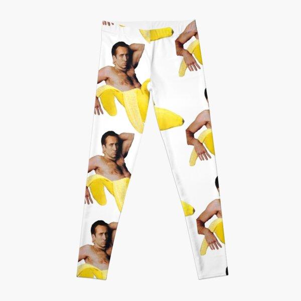 Nicolas Cage In A Banana - Bright Yellow Leggings