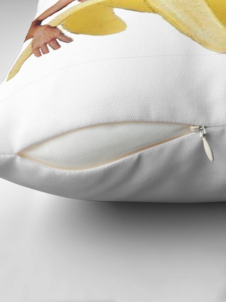Alternate view of Nicolas Cage In A Banana - Original Yellow Throw Pillow