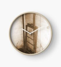 Battery Mishler ladder going nowhere, sepia Clock