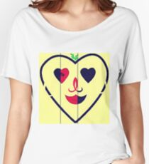 RightOn Hearts Women's Relaxed Fit T-Shirt