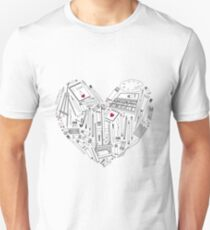 The heart of the favorite tools for creativity. Unisex T-Shirt