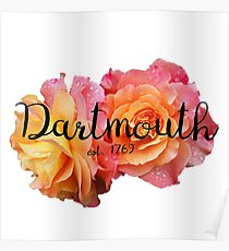 Dartmouth college university roses Poster