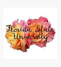 Florida State University FSU Roses Photographic Print