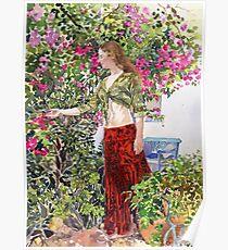 Francesca in Ute's Garden Poster