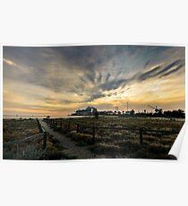 Evening sky, Port Melbourne Poster
