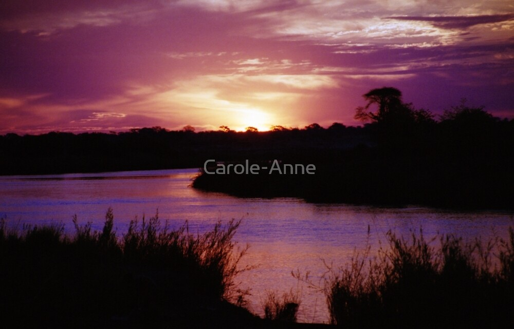 Namibian Angolan Border Sunset #2 by Carole-Anne