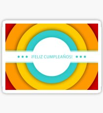 retro feliz cumpleanos Sticker