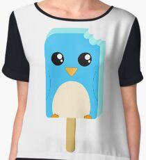 Cute Penguin Popsicle  Women's Chiffon Top