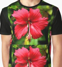 Hibiscus in Red #1 Graphic T-Shirt