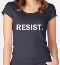 Resist Authoritarianism Trump Resistance Women's Fitted Scoop T-Shirt