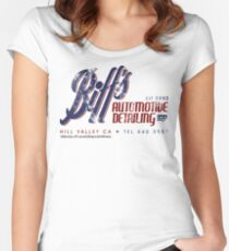 Biff's Auto Detailing Women's Fitted Scoop T-Shirt