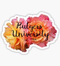 Rutgers University Rose Sticker