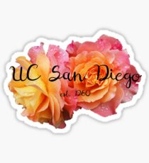 University of California San Diego UC Rose Sticker