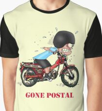 GONE POSTAL POSTIE BIKE MOTORCYCLE Graphic T-Shirt