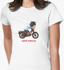 GONE POSTAL POSTIE BIKE MOTORCYCLE Womens Fitted T-Shirt