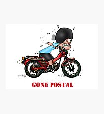 GONE POSTAL POSTIE BIKE MOTORCYCLE Photographic Print