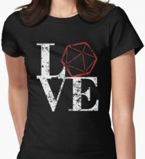 LOVE - D20 Womens Fitted T-Shirt