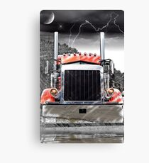 Peterbilt Front End Abstract Canvas Print