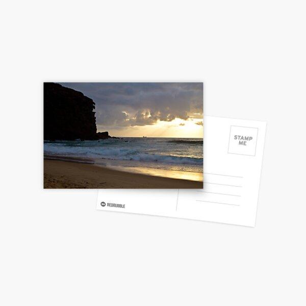 Redhead beach, Lake Macquarie at sunrise Postcard
