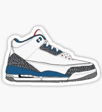 "Air Jordan III (3) ""True Blue"" Sticker"