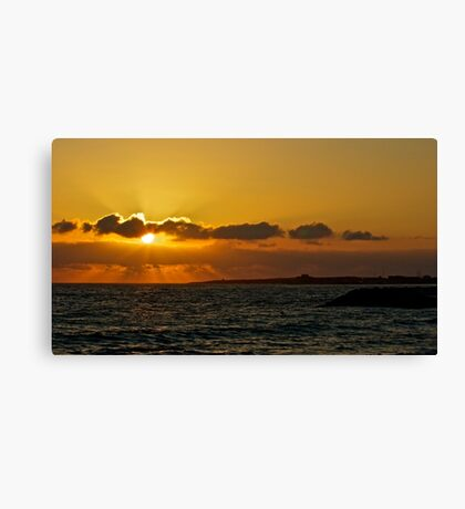 Paphos Sunset Canvas Print