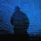Shadowman & sea by Bluesrose