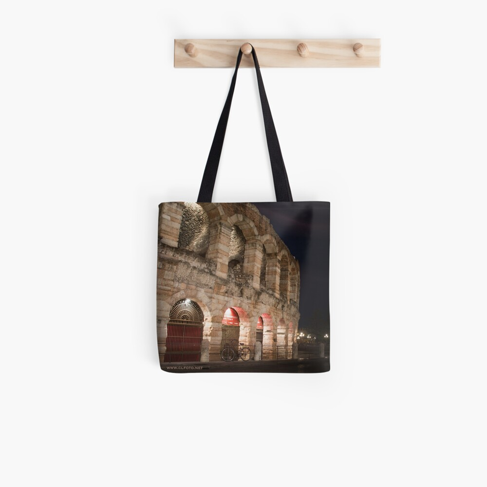 L'Arena at night, Verona, Italy Tote Bag