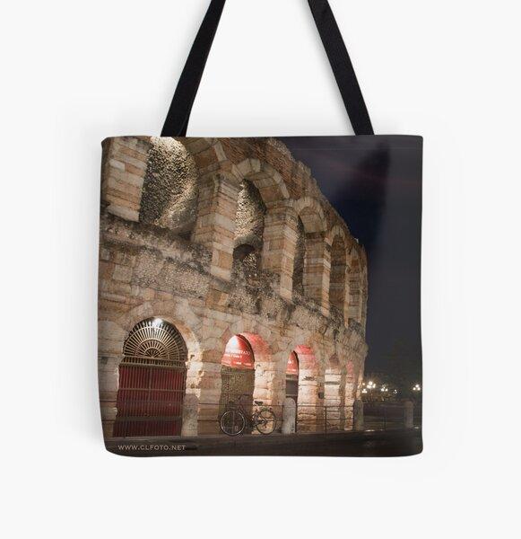 L'Arena at night, Verona, Italy All Over Print Tote Bag