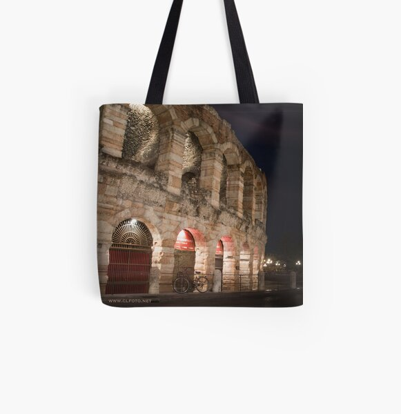 L'Arena at night, Verona, Italy All Over Print Tote Bag