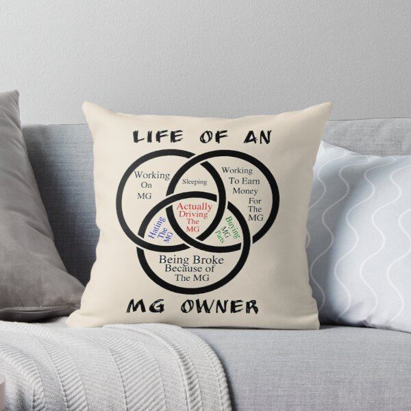 Life of an MG Owner Throw Pillow
