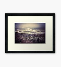 Mountains - Mt. Hood Remember the Snow Framed Print