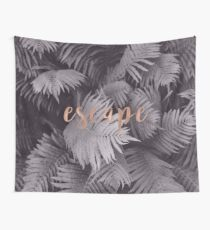 Rose gold escape in the shadows Wall Tapestry
