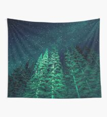 Nature Forest - Night Star Signal Wall Tapestry