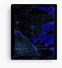 USGS TOPO Map California CA Tupman 296572 1933 31680 geo Inverted Canvas Print