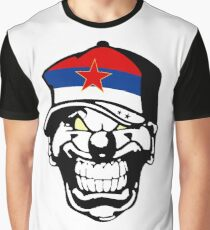 Serbia Horror Clown Truckercap Graphic T-Shirt