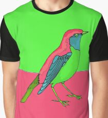 Neon Bird Graphic T-Shirt