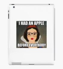 Apples Before Everyone \\ Ironic Royalty Collection iPad Case/Skin