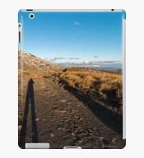 Selfie shadows, late afternoon, Crown Range iPad Case/Skin