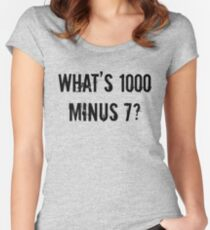 What's 1000 minus 7? - TG Women's Fitted Scoop T-Shirt
