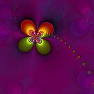 Flower fractal, purple by RosiLorz