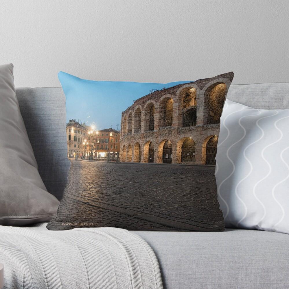 L'Arena, Verona, Italy Throw Pillow