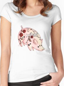 Tattoo Pig Women's Fitted Scoop T-Shirt